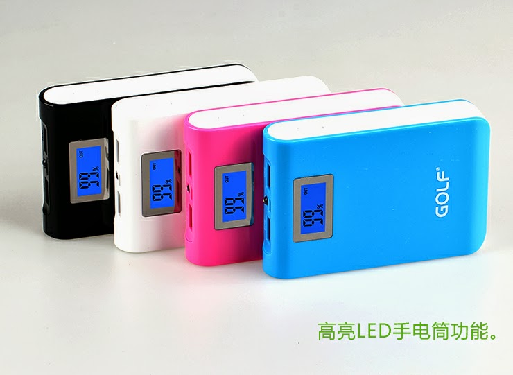 Golf Power Bank 10400 mAh สีดำ