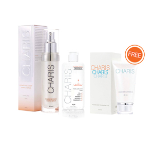 Charis Power Recovery White Serum [1 ขวด+Cleansing gel ฟรี Clear Water]