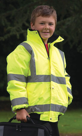 high visibility childrens bomber jacket