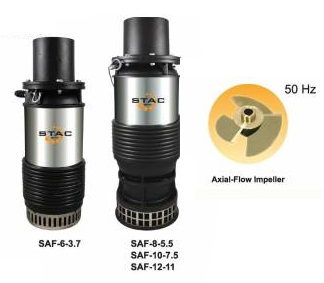 SUBMERSIBLE AXIAL FLOW PUMP SAF