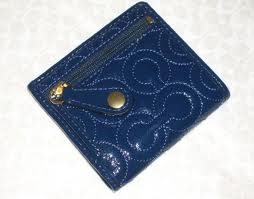 ==SOLD OUT==COACH GRAMERCY BLUE LEATHER WALLET STYLE NO. 42958