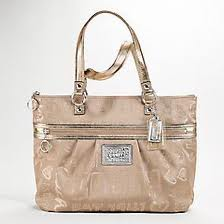 ==SOLD OUT== กระเป๋า COACH POPPY GOLD STORYPATCH GLAM TOTE BAG 15301