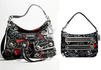 กระเป๋า COACH POPPY GRAFFITI HOBO 16053 ขายคู่ COACH POPPY GRAFFITI POUCH 44584