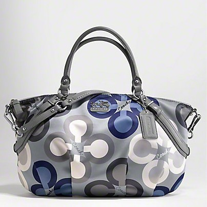 กระเป๋าสะพาย COACH MADISON CLOVER BLUE GREY SATCHEL BAG 15946