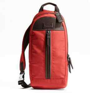 กระเป๋าสะพาย COACH MEN VERICK RED NYLON SLING PACK BAG 70692