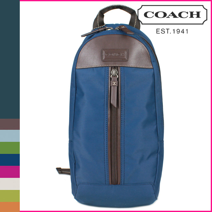 กระเป๋าสะพาย COACH MEN VERICK BLUE NYLON SLING PACK BAG 70692
