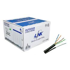 สายLAN LINK US-9015M CAT 5E ,PE UTP OUTDOOR w/Drop Wire [Single Jacket] (305 เมตร)