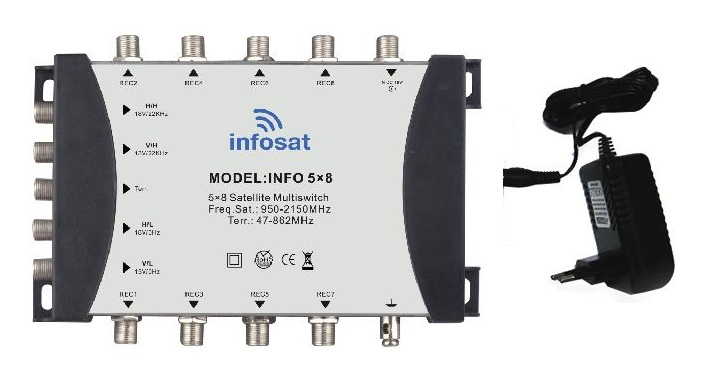 MULTI SWITH 5x8 INFOSAT MS58B + ADAPTOR