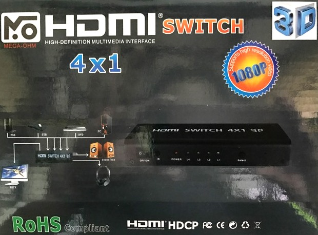 HDMI SELECTOR MEGA-OHM HDMI SWITCH 4x1