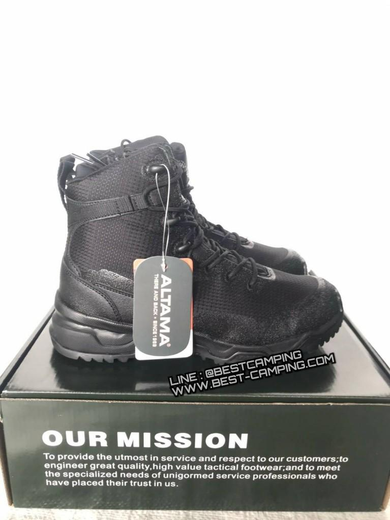 รองเท้า ALTAMA tactical Black , Altama Footwear  Side Zip Boots