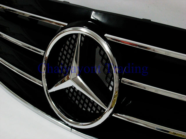 clk type style front grille accessory mercedes benz w203. Black Bedroom Furniture Sets. Home Design Ideas