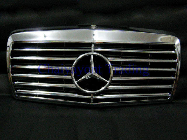 Accessories sport grille elegance complete chrome type for Mercedes benz chrome accessories