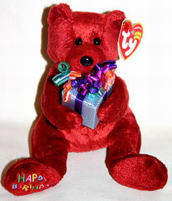 Ty 2005 Happy Birthday (red) the Bear