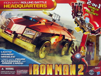 Iron Man 2 - Rolling Battle Headquaters 2 in 1 Play Set