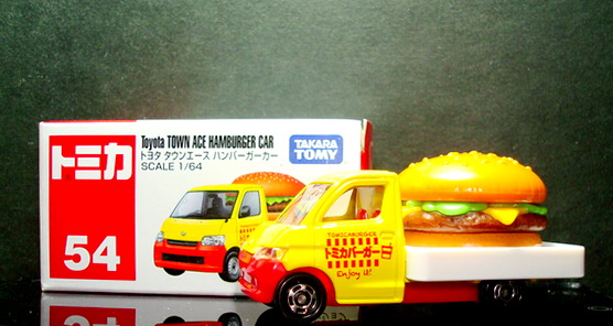 Tomy No 54 Toyota Town Ace Hamburger car