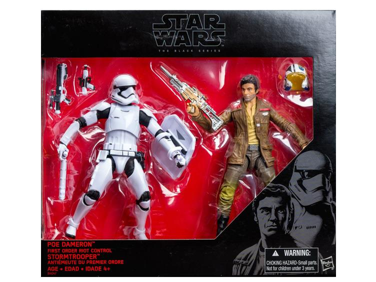 Star Wars Episode VII 6 Inch. Poe Dameron vs  First Order Riot Control Stormtroope