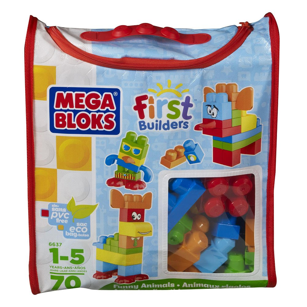 Mega Bloks First Builders Bag - Funny Animals 70 ชิ้น