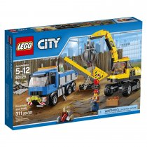 City Demolition Excavator and Truck 60075 โดย Lego