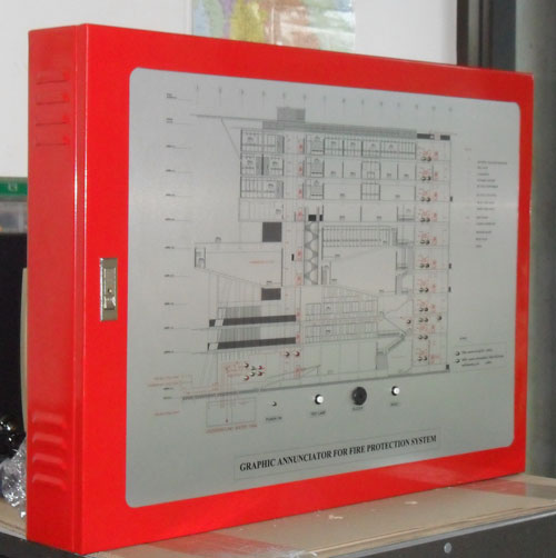 Graphic Annunciator Panel (one colour) Aluminium Anodize plate รุ่นGRAPHIC A1 ยี่ห้อ Fire-Alarm