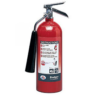 fire extinguisher 5 lbs., UL listed 5B:C. C02 รุ่น B5V-1 ยี่ห้อ BADGER