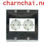 Stainless cover plate for German Receptacle