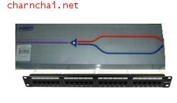 Patch Panel, Category 5E, Unshielded, 24-Ports, Straight, 1U AMP