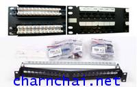 SL Series Patch Panel, Category 5E, Unshielded, 48-Ports, Straight, 2U