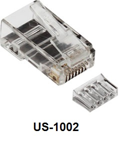 CAT 6 RJ45 PLUG (ตัวผู) , 2 layer with pre-insert bar