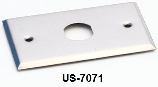 Stainless FACE PLATE 1 Outlet