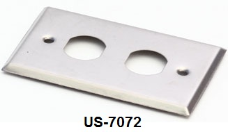 Stainless FACE PLATE 2 Outlet