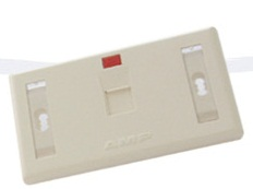 FACE PLATE 1 PORT with SHUTTER