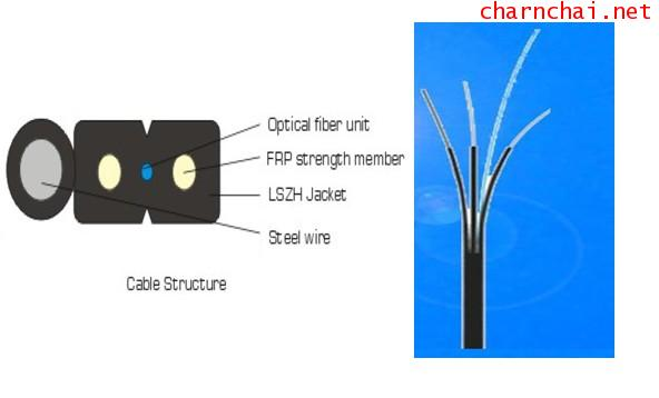 FIBER OFTIC FTTH OutdoorIndoor 9125, wdrop wire 2 Core, G657A2, LSZH