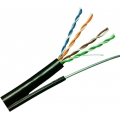CAT 5E UTP CABLE, PE, OUTDOOR wDrop wire (Single Jacket) 1427320-1