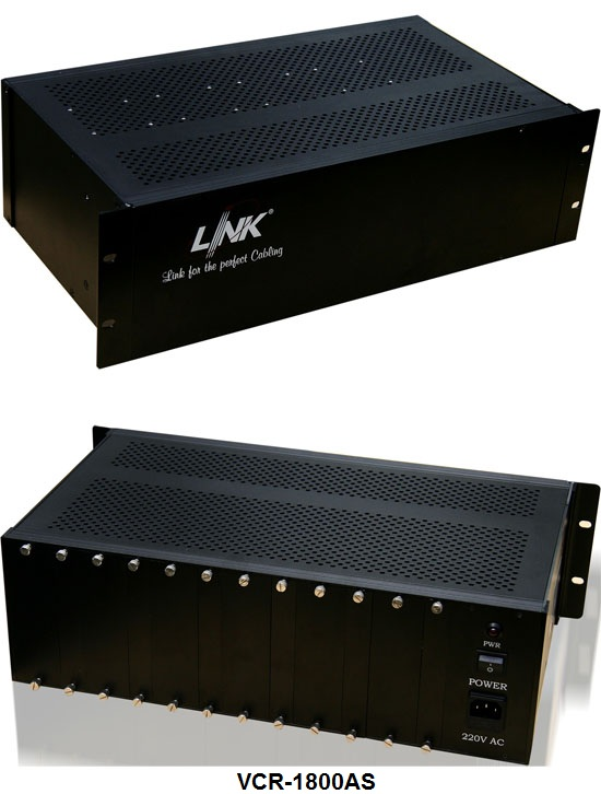 18 Slot Video Converter CHASSIS w1AC Power Module,3U
