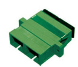 SC-APC DUPLEX ADAPTER SM APC Ceramic Sleeve Green Housing