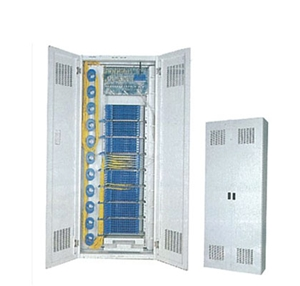 Close F.O Distribution Cabinet w-side cable routing