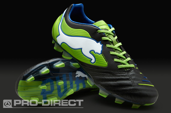 Puma PowerCat 1.12 SL FG Boots - Black/Green/Blue
