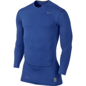 Nike Pro Combat Core 2.0 Compression Long Sleeve Tope สีน้ำเงิน