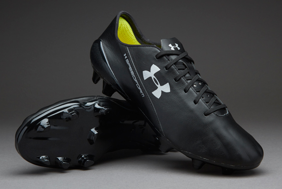 Under Armour  Speedform Leather FG ฺBlack/Black