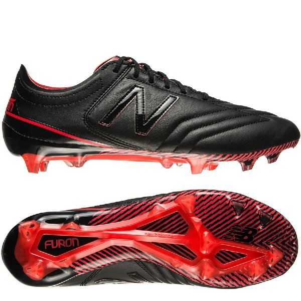 New Balance Furon 3.0 K-Leather FG - Black/Red
