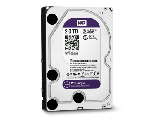 HDD WD 2TB PURPLE /SATA3/64MB-3 YEAR
