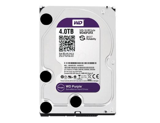 HDD WD 4TB PURPLE /SATA3/64MB-3 YEAR