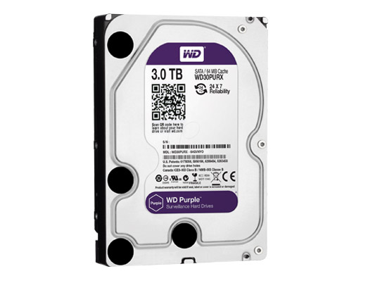 HDD WD 3TB PURPLE /SATA3/64MB-3 YEAR