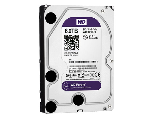 6.0 TB HDD WESTERN SATA-3 PURPLE