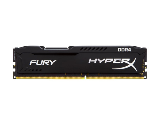 8 GB RAM PC DDR4/2400 KINGSTON HYPER-X FURY BLACK