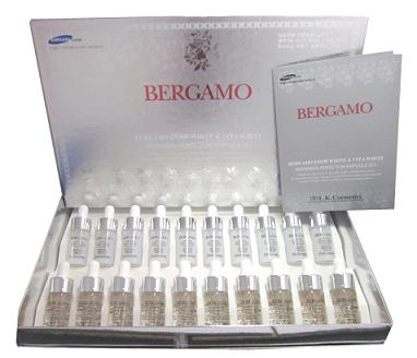 Bergamo Snow White  Vita-white Whitening Perfection Ampoule Set 13ml. (1 กล่อง มี 10 คู่)