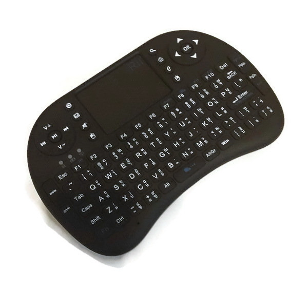 Rii Mini Wireless Keyboards K08 with Universal Remote Control มีภาษาไทย-อังกฤษ Black