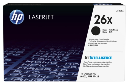 CF226X HP 26X High Yield Black Original LaserJet Toner Cartridge