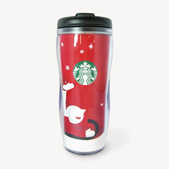 Starbucks :holidays red cup 350 ml.