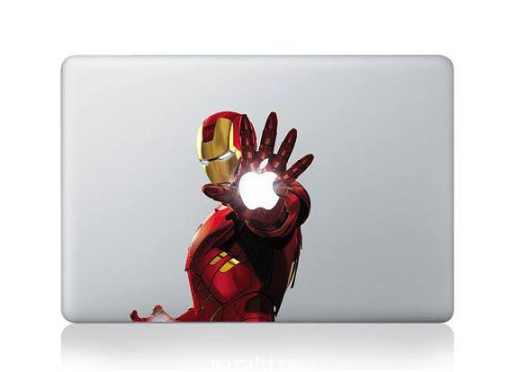 Iron Man sticker  Decal for macbook 15